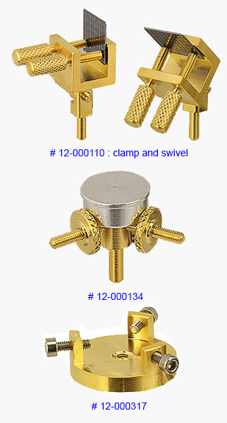 EM-Tec gold series SEM sample holders and pin stub adapters